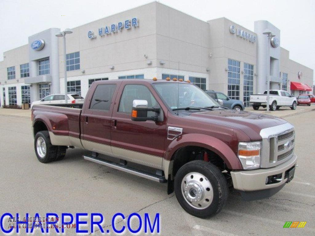 2009 Ford F450 Super Duty King Ranch Crew Cab 4x4 Dually in Royal Red