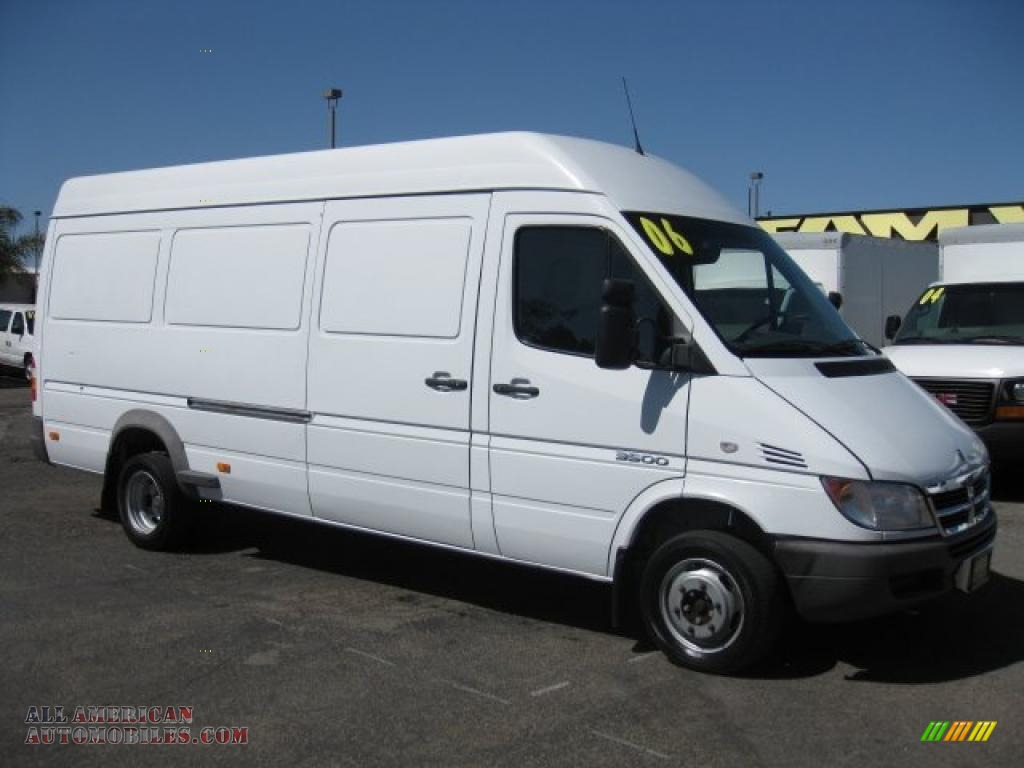 2006 dodge sprinter van 3500 high roof cargo in arctic white 877351 all american automobiles. Black Bedroom Furniture Sets. Home Design Ideas