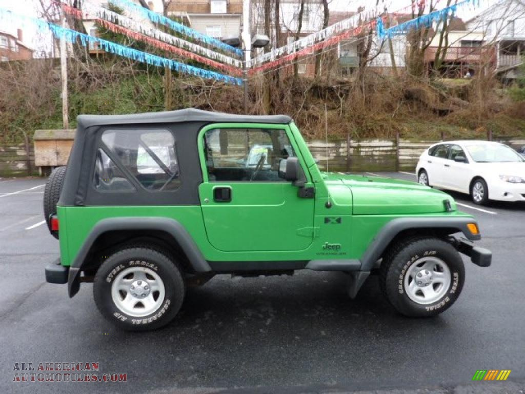 2004 jeep wrangler x 4x4 in electric lime green pearl photo 6 702770 all american. Black Bedroom Furniture Sets. Home Design Ideas