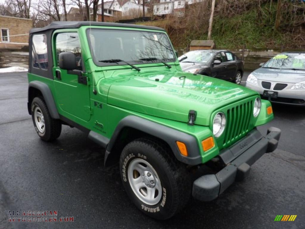 2004 jeep wrangler x 4x4 in electric lime green pearl. Black Bedroom Furniture Sets. Home Design Ideas