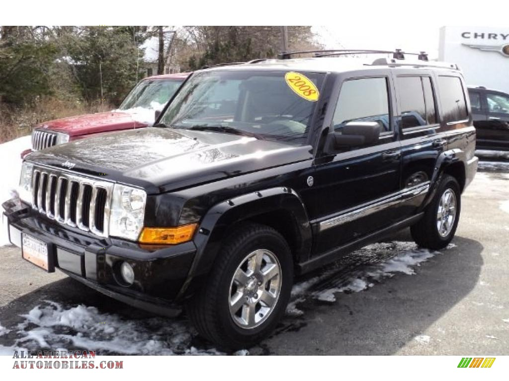 2008 Jeep Commander Limited 4x4 in Brilliant Black Crystal ...