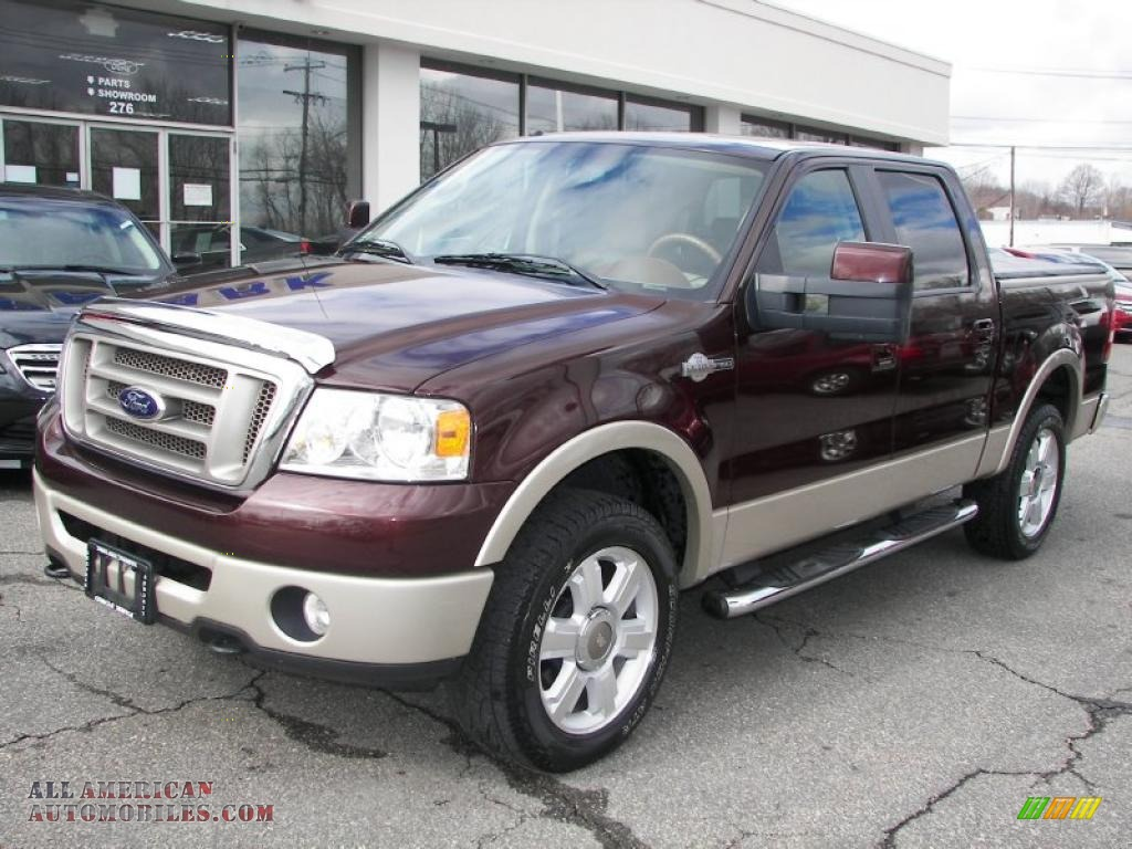2008 ford f150 king ranch supercrew 4x4 in mahogany metallic b39109 all american automobiles. Black Bedroom Furniture Sets. Home Design Ideas