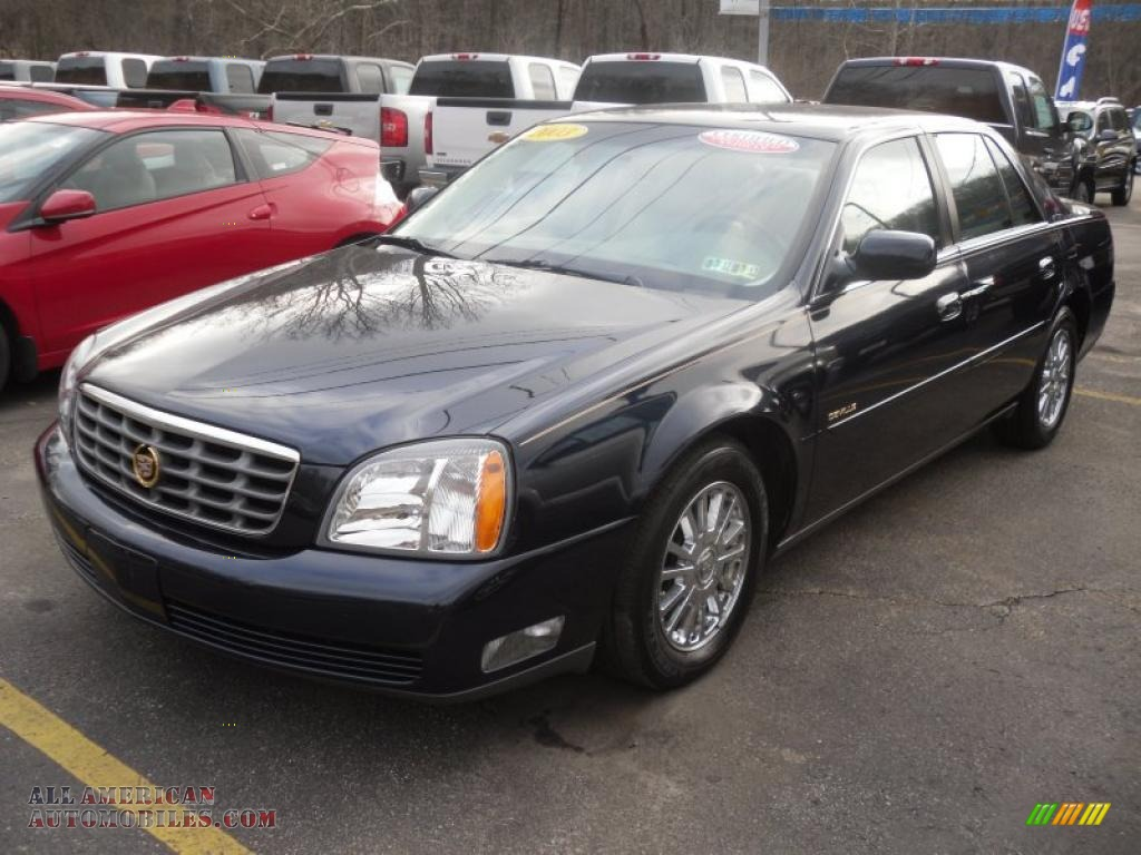 2003 cadillac deville dhs in blue onyx 173957 all american automobiles buy american cars. Black Bedroom Furniture Sets. Home Design Ideas
