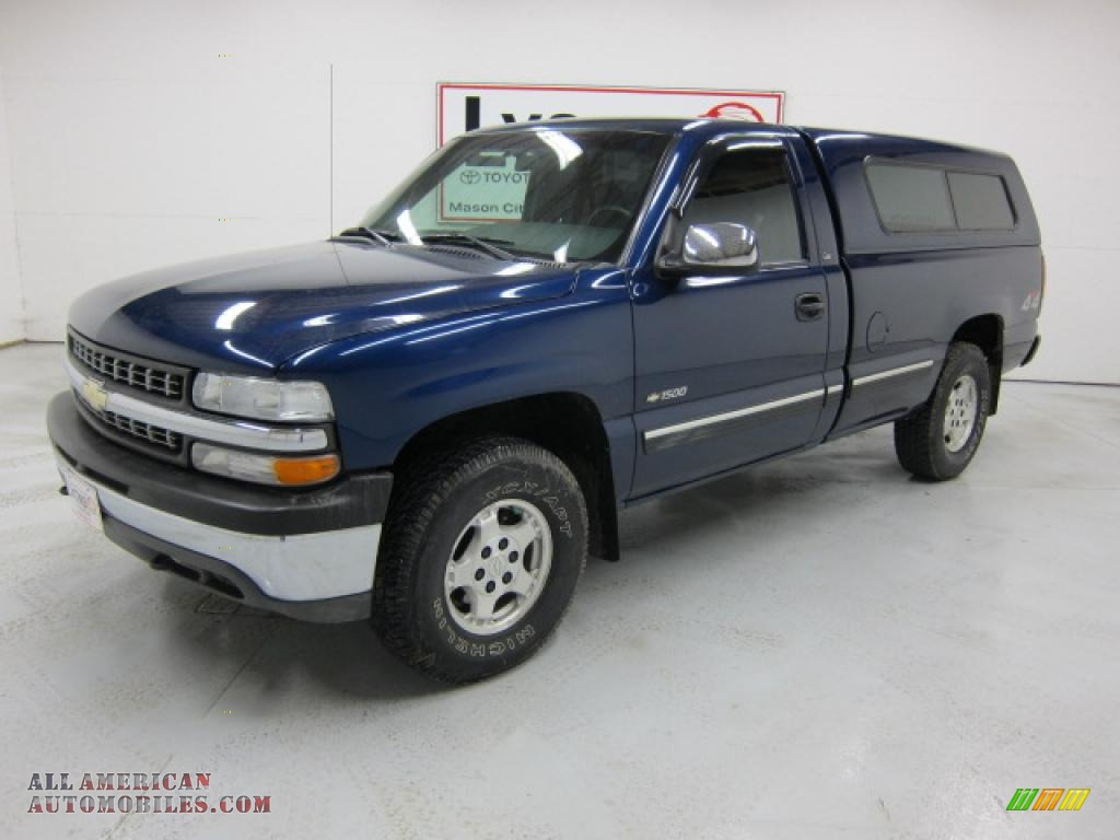 Indigo Blue Metallic / Graphite Chevrolet Silverado 1500 LS Regular Cab 4x4