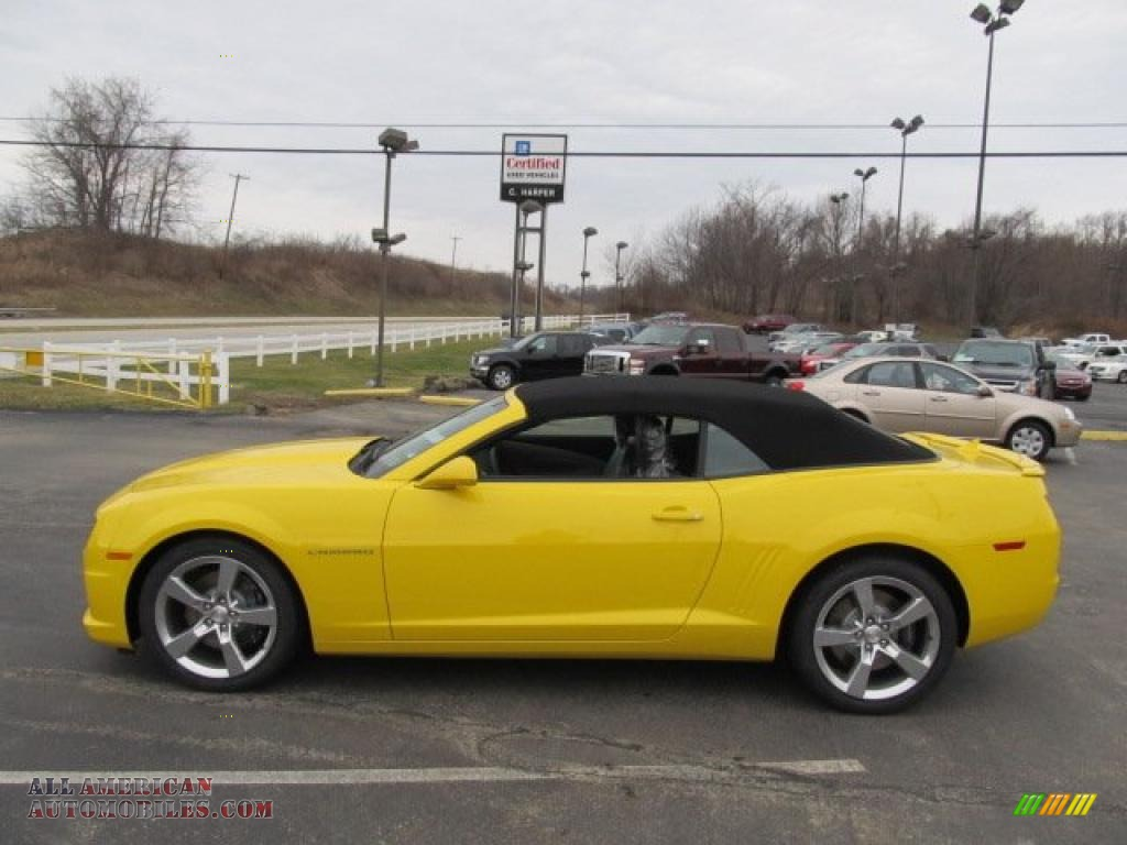 2011 Chevrolet Camaro Ss Rs Convertible In Rally Yellow