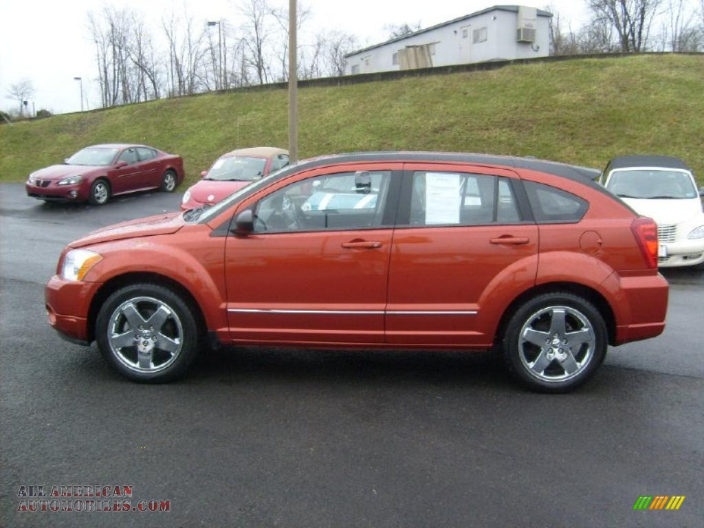 2008 Dodge Caliber R T Awd In Sunburst Orange Pearl Photo