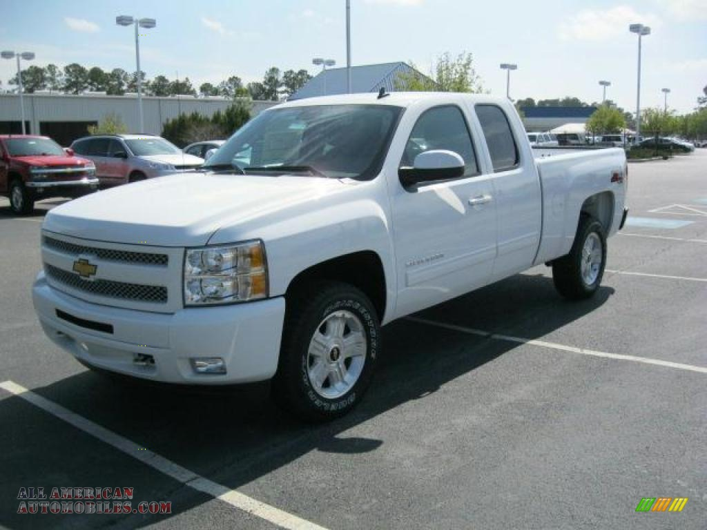 2011 chevrolet silverado 1500 lt extended cab 4x4 in summit white photo 4 276988 all. Black Bedroom Furniture Sets. Home Design Ideas