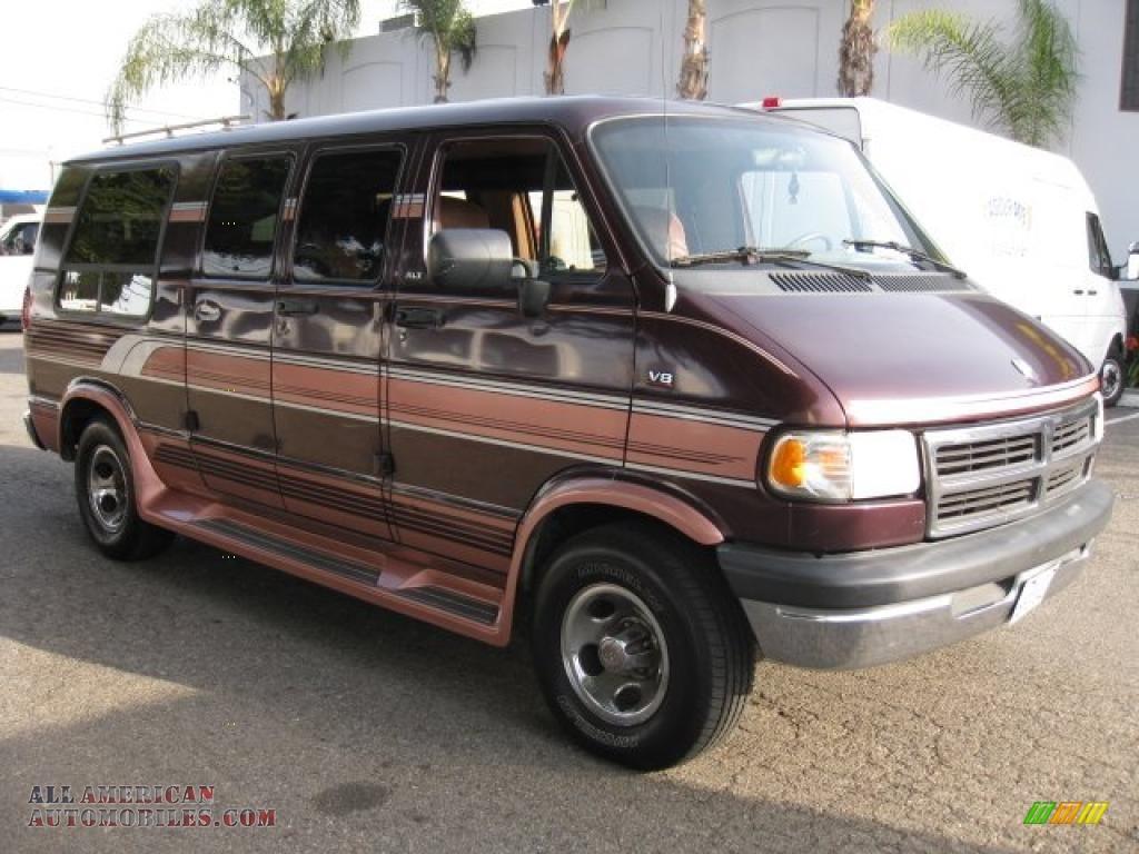 1995 Dodge Ram Van 2500 Passenger Conversion in Director Red Metallic ...