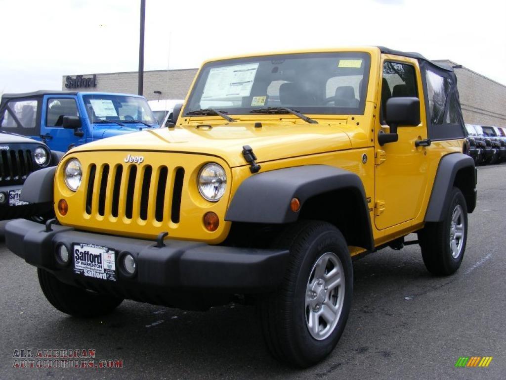 2011 jeep wrangler sport 4x4 in detonator yellow 529851 all american automobiles buy. Black Bedroom Furniture Sets. Home Design Ideas