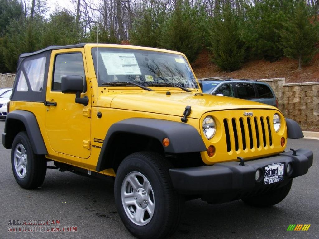 2011 jeep wrangler sport 4x4 in detonator yellow photo 2 for Steve white motors inc