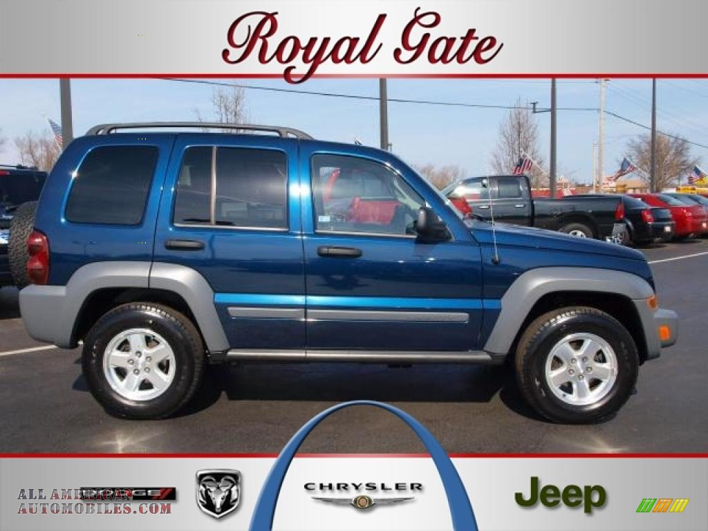 2005 jeep liberty crd sport 4x4 in midnight blue pearl for Royal chrysler motors inc