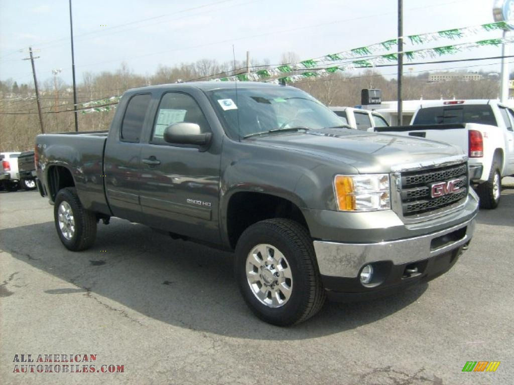 2011 GMC Sierra 2500HD SLT Extended Cab 4x4 in Gray Green Metallic - 286023 | All American ...