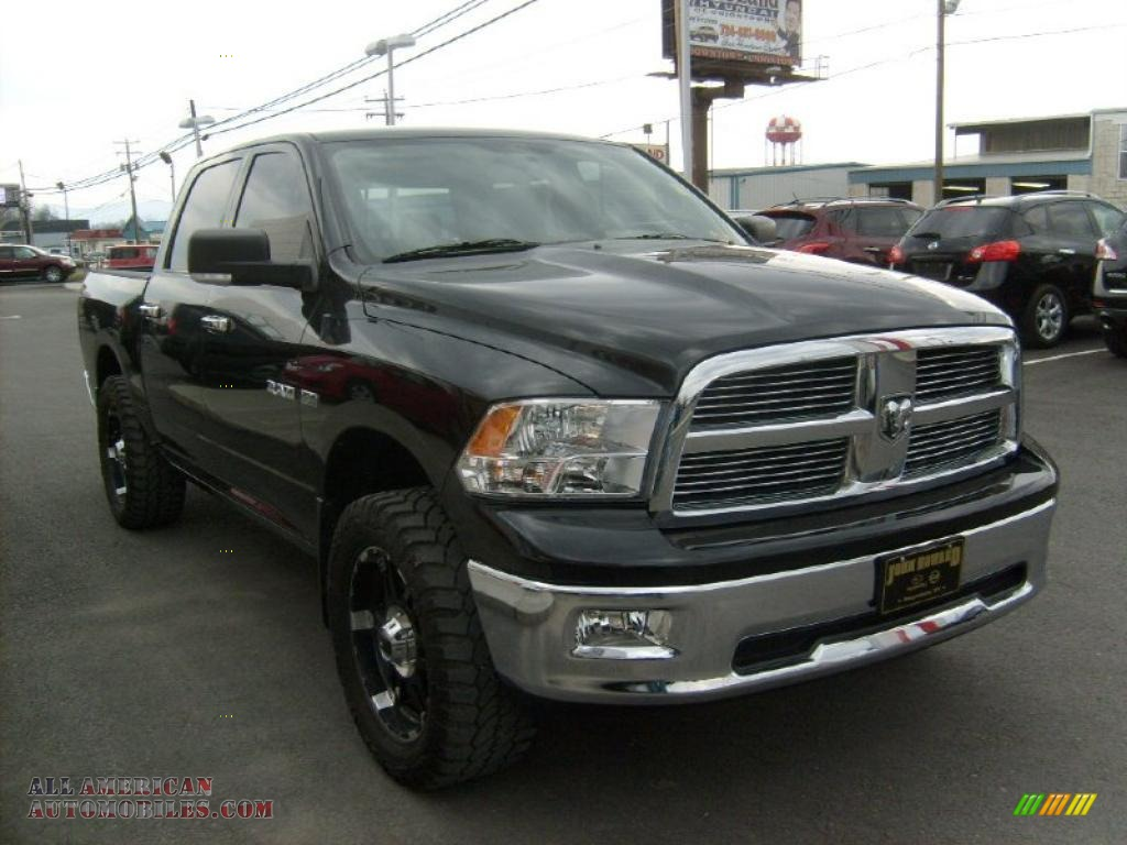 2009 dodge ram 1500 big horn edition crew cab 4x4 in brilliant black crystal pearl photo 10. Black Bedroom Furniture Sets. Home Design Ideas