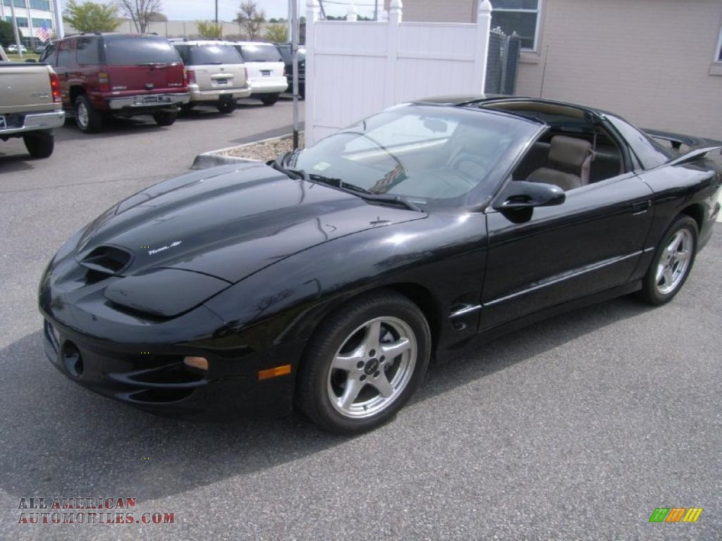 2001 pontiac firebird trans am ws 6 coupe in black 108163 all american automobiles buy. Black Bedroom Furniture Sets. Home Design Ideas