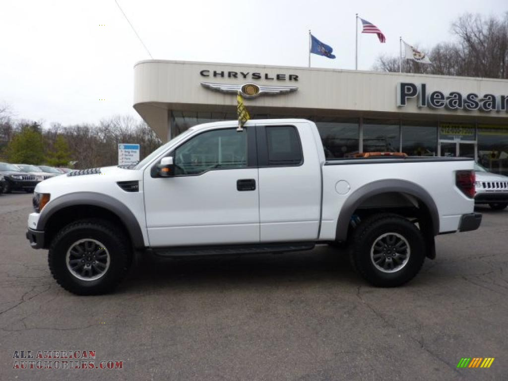 2010 ford f150 svt raptor supercab 4x4 in oxford white photo 2 d40942 all american. Black Bedroom Furniture Sets. Home Design Ideas