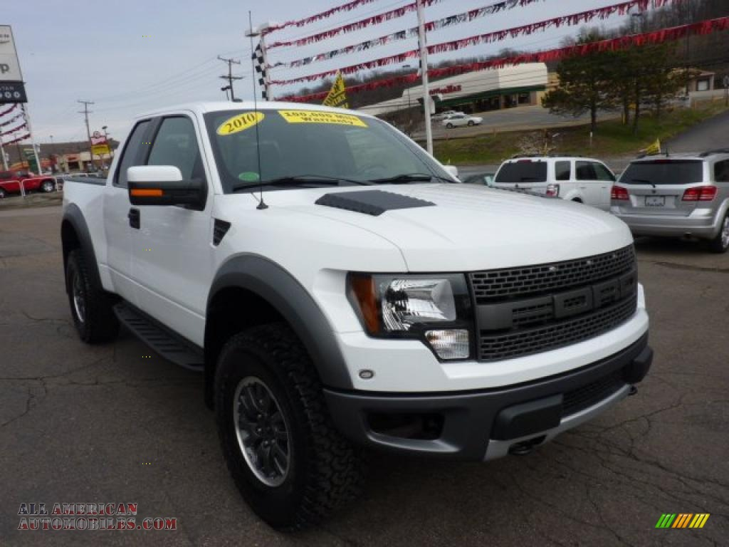 2010 ford f150 svt raptor supercab 4x4 in oxford white photo 7 d40942 all american. Black Bedroom Furniture Sets. Home Design Ideas