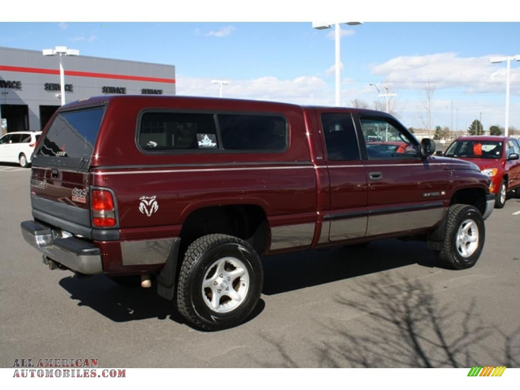 2000 dodge ram 1500 slt extended cab 4x4 in dark garnet. Black Bedroom Furniture Sets. Home Design Ideas