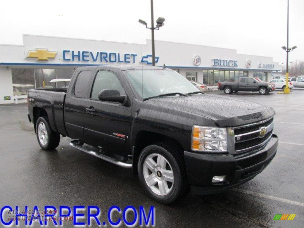 2007 chevrolet silverado 1500 ltz extended cab 4x4 in black 532924 all american automobiles. Black Bedroom Furniture Sets. Home Design Ideas