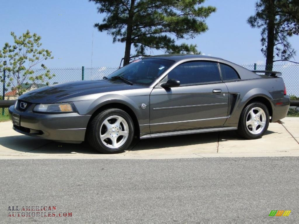 2004 ford mustang v6 coupe in dark shadow grey metallic photo 8