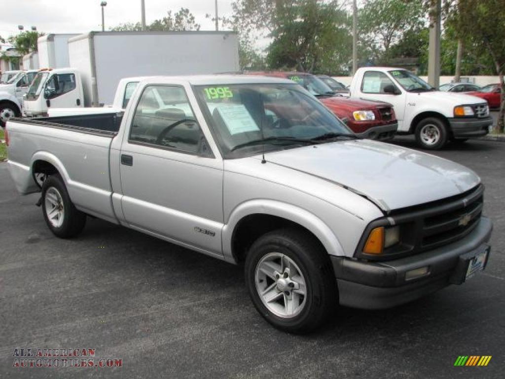 1995 chevrolet s10 ls regular cab in silver metallic 162614 all american automobiles buy