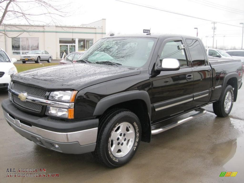 2004 chevrolet silverado 1500 z71 extended cab 4x4 in black 230406 all american automobiles. Black Bedroom Furniture Sets. Home Design Ideas