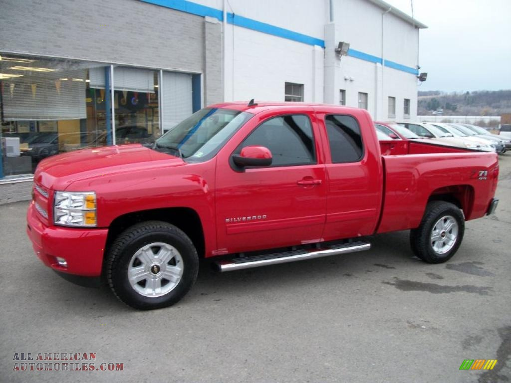 2011 chevrolet silverado 1500 lt extended cab 4x4 in victory red 272661 all american. Black Bedroom Furniture Sets. Home Design Ideas