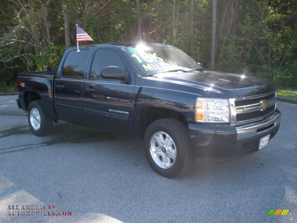2009 chevrolet silverado 1500 lt z71 crew cab 4x4 in imperial blue metallic 286638 all. Black Bedroom Furniture Sets. Home Design Ideas