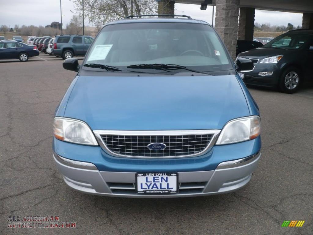 2003 Ford Windstar Sel In Light Sapphire Blue Metallic Photo 3 Medium Graphite