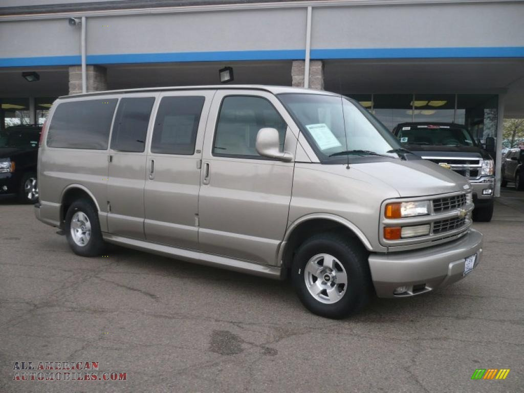 2002 chevrolet express 1500 lt passenger van in light pewter metallic 108829 all american. Black Bedroom Furniture Sets. Home Design Ideas