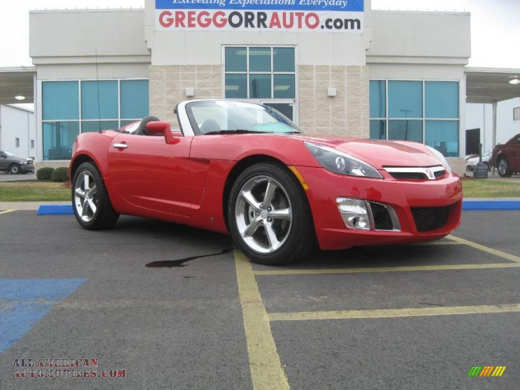 2009 saturn sky red line roadster in chili pepper red 106763 all american automobiles buy. Black Bedroom Furniture Sets. Home Design Ideas