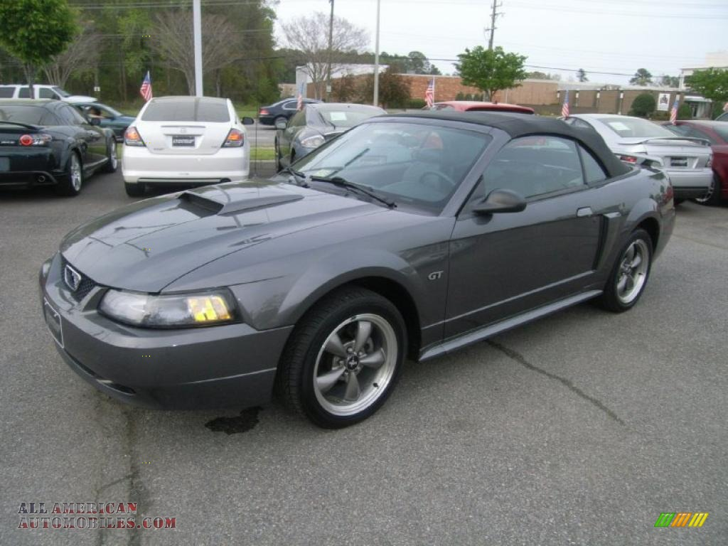 2003 ford mustang gt convertible in dark shadow grey metallic 338065 all american. Black Bedroom Furniture Sets. Home Design Ideas