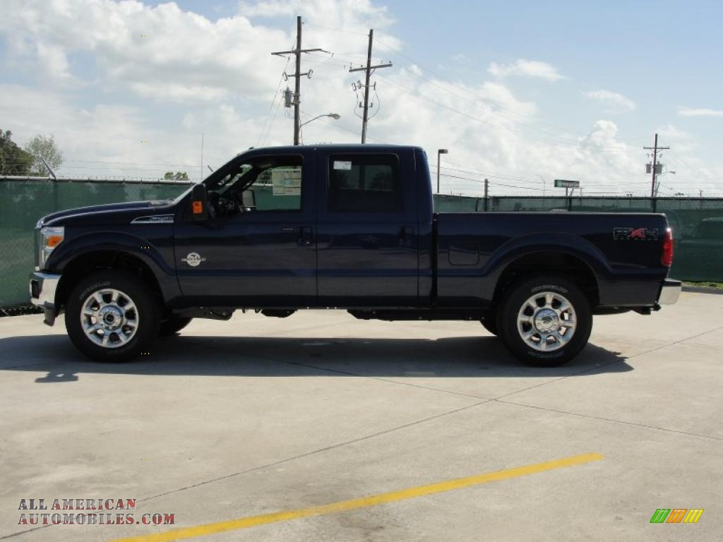 2011 F250 Super Duty Lariat Crew Cab 4x4 - Dark Blue Pearl Metallic ...