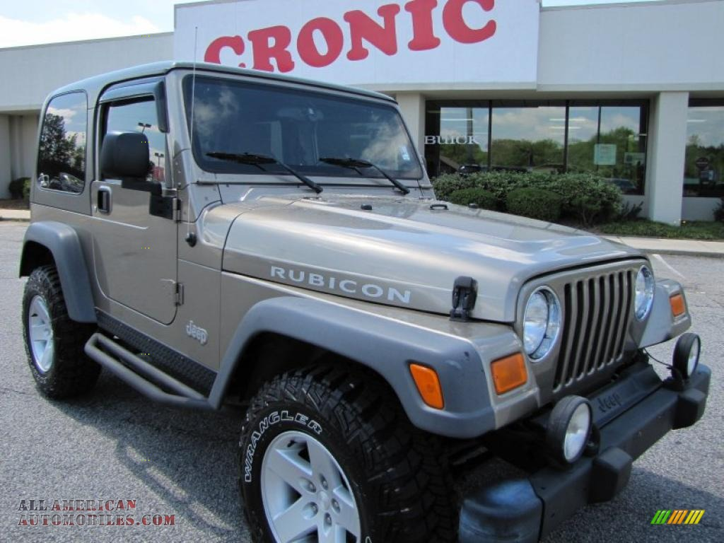 2005 jeep wrangler rubicon 4x4 in light khaki metallic 300535 all