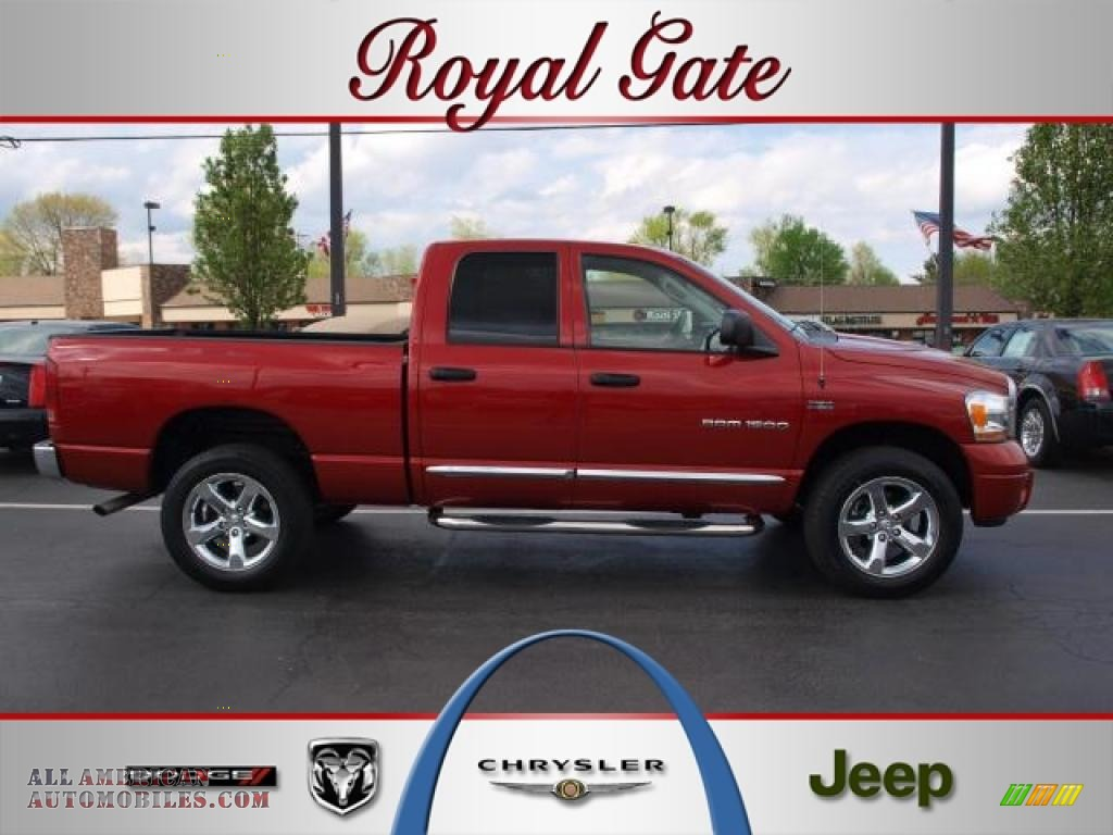 2006 Dodge Ram 1500 Laramie Quad Cab 4x4 In Inferno Red Crystal Pearl 524734 All American Automobiles Buy American Cars For Sale In America