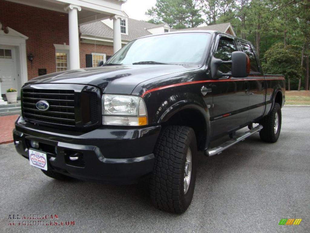 2004 Ford F250 Super Duty Harley Davidson Crew Cab 4x4 In Black F 250 Xlt Photo 1
