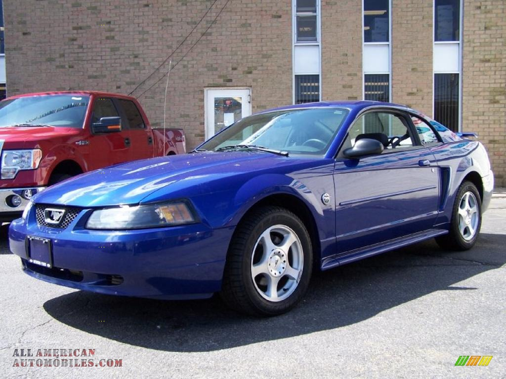 2004 Ford Mustang V6 Coupe In Sonic Blue Metallic 218505