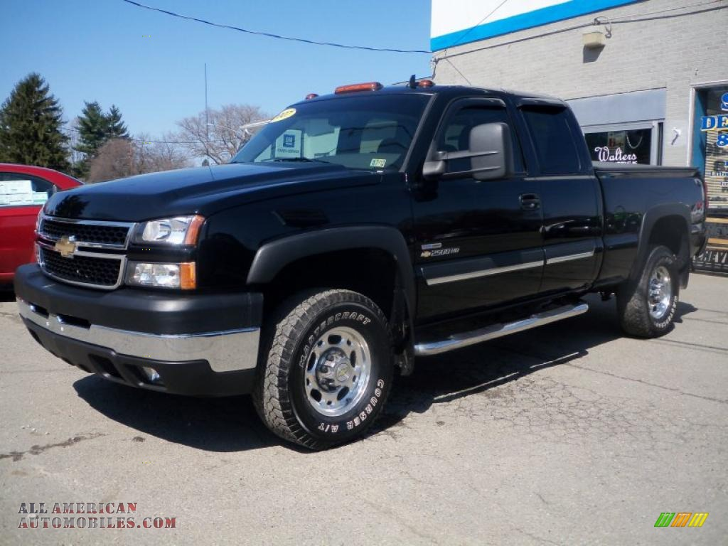 2007 chevrolet silverado 2500hd classic lt extended cab 4x4 in black. Cars Review. Best American Auto & Cars Review