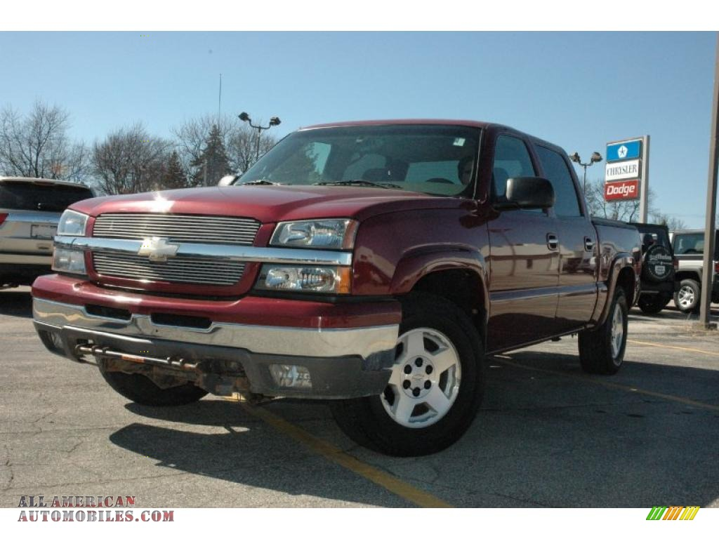 2005 Chevrolet Silverado 1500 Ls Crew Cab 4x4 In Sport Red