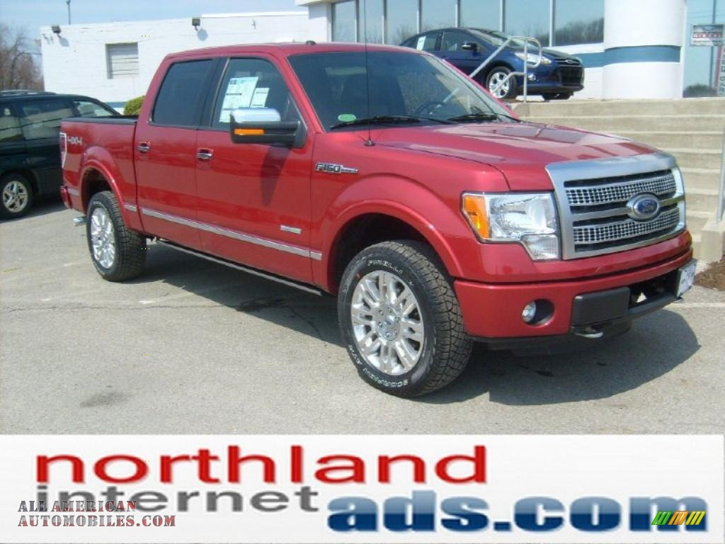 2011 ford f150 platinum supercrew 4x4 in red candy metallic photo 2 b01071 all american. Black Bedroom Furniture Sets. Home Design Ideas