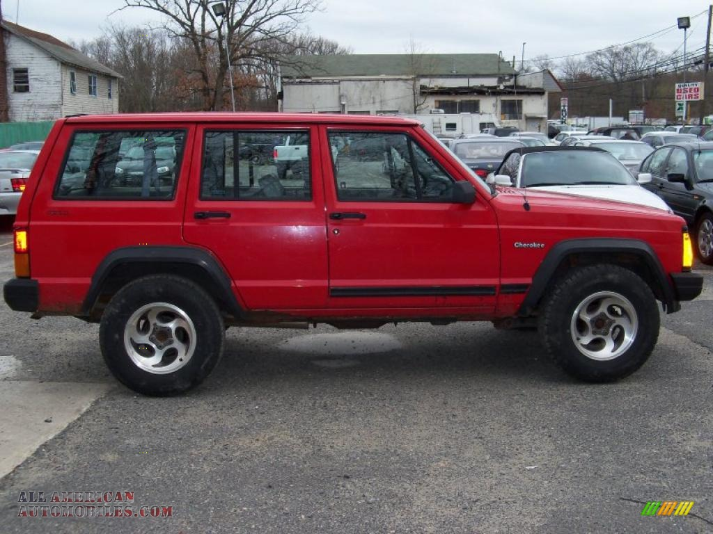 1994 jeep cherokee sport 4x4 in flame red photo 8 170958 all american automobiles buy. Black Bedroom Furniture Sets. Home Design Ideas