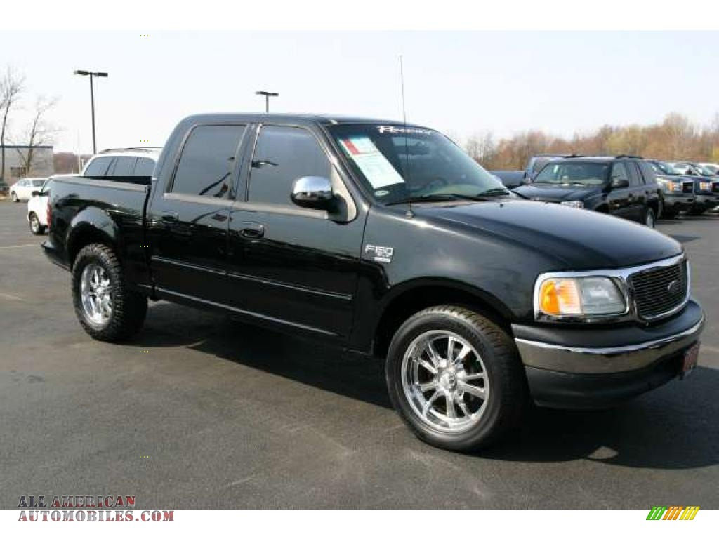 2002 ford f150 xlt supercrew in black d05332 all american automobiles buy american cars. Black Bedroom Furniture Sets. Home Design Ideas