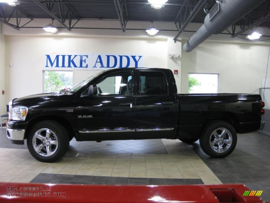 2008 dodge ram 1500 big horn edition quad cab in brilliant black crystal pearl 126383 all. Black Bedroom Furniture Sets. Home Design Ideas