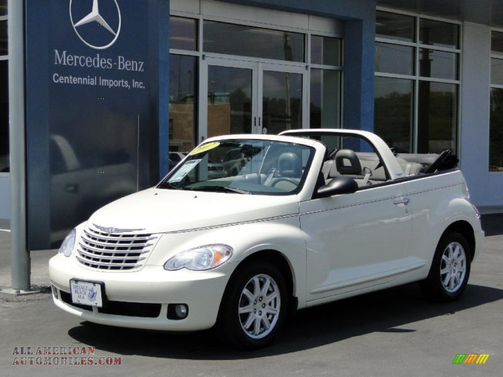 2007 Pt Cruiser Convertible Cool Vanilla White Pastel Slate Gray