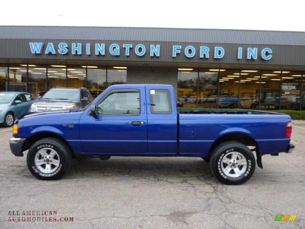 2004 ford ranger xlt supercab 4x4 in sonic blue metallic a14279 all american automobiles. Black Bedroom Furniture Sets. Home Design Ideas
