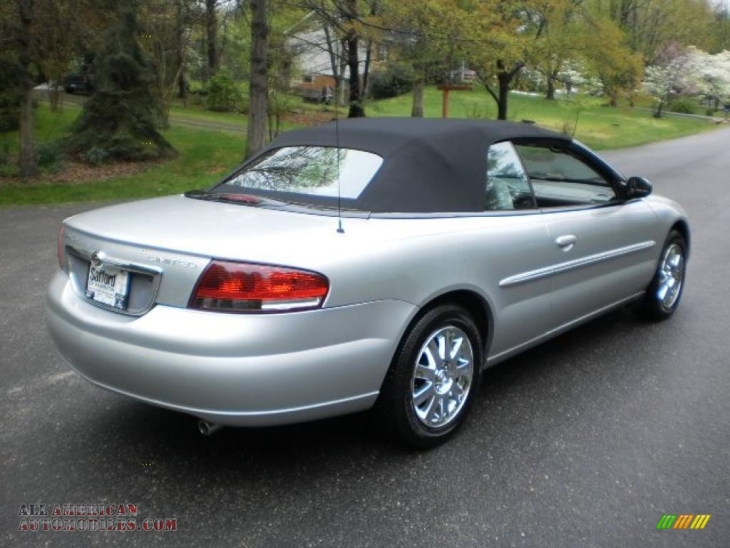 2005 chrysler sebring limited convertible in brilliant silver metallic photo 6 707640 all. Black Bedroom Furniture Sets. Home Design Ideas