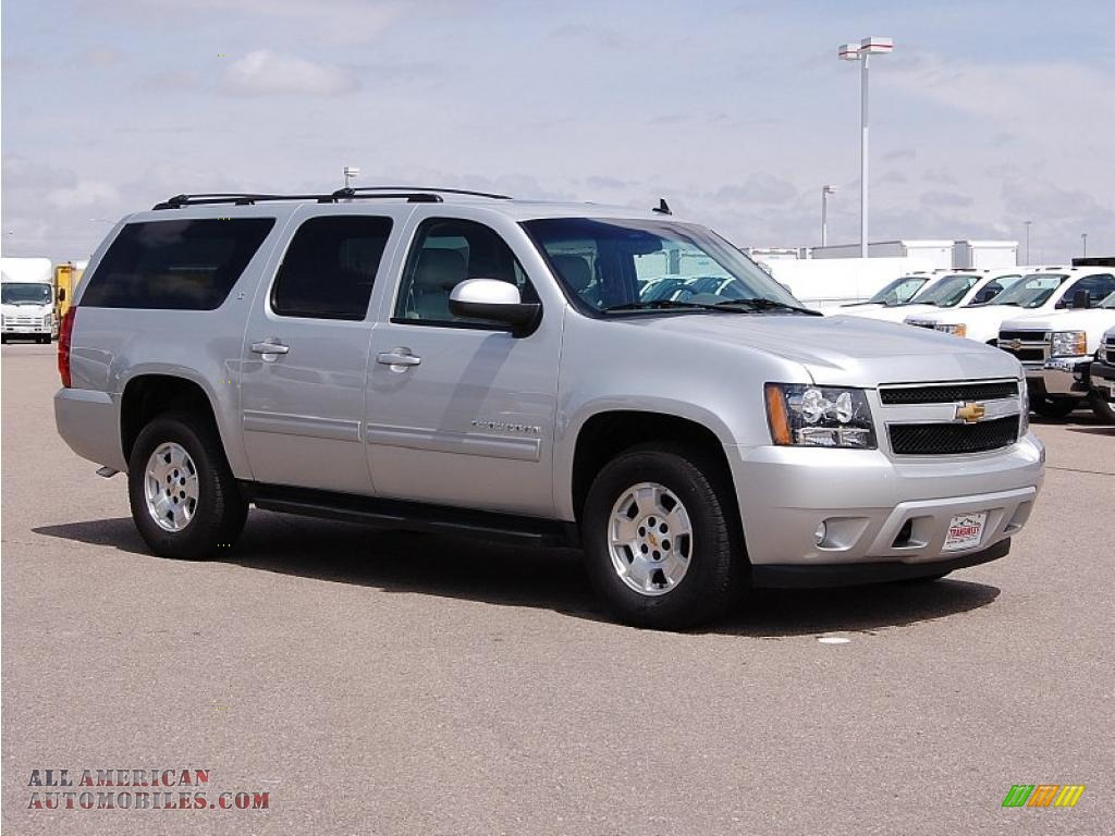 2010 chevrolet suburban lt 4x4 in sheer silver metallic 226593 all american automobiles. Black Bedroom Furniture Sets. Home Design Ideas