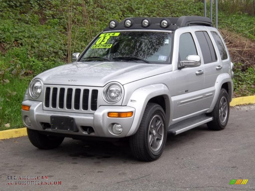 2003 jeep liberty renegade 4x4 in bright silver metallic 569139 all american automobiles. Black Bedroom Furniture Sets. Home Design Ideas