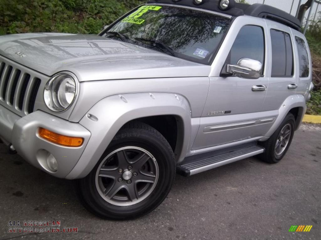 2003 jeep liberty renegade 4x4 in bright silver metallic photo 23 569139 all american. Black Bedroom Furniture Sets. Home Design Ideas