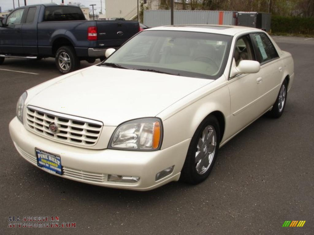 2003 cadillac deville dts in white diamond 210612 all american automobiles buy american. Black Bedroom Furniture Sets. Home Design Ideas