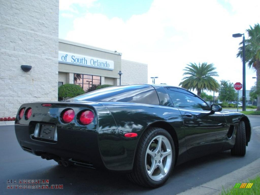 2000 chevrolet corvette coupe in dark bowling green metallic photo 6 126817 all american. Black Bedroom Furniture Sets. Home Design Ideas